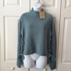 NWT True Craft Light Blue Cropped Sweater